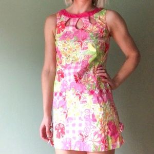 Lilly Pulitzer Patchwork Sleeveless Sundress Sz 0